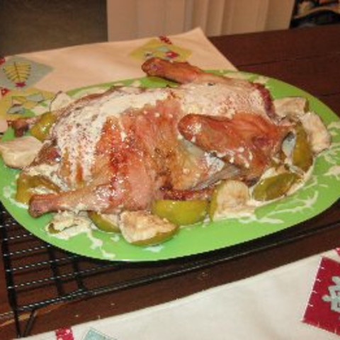 Duck with Apples in Cream