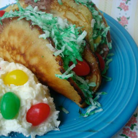Easter egg tacos