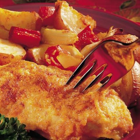 Easy Baked Dijon Chicken & Potatoes