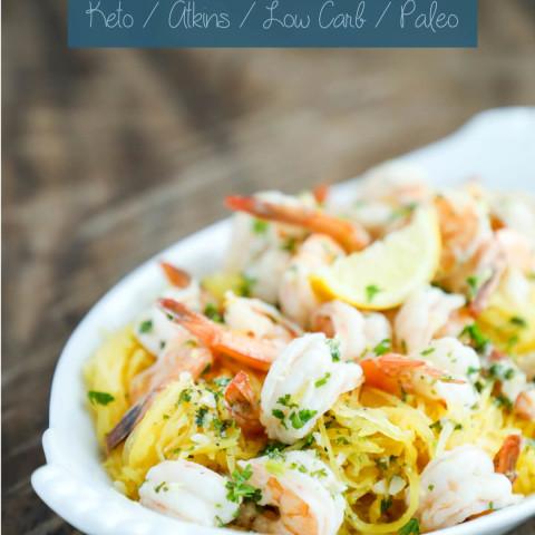 Easy Keto Shrimp Scampi - Low Carb & Gluten Free