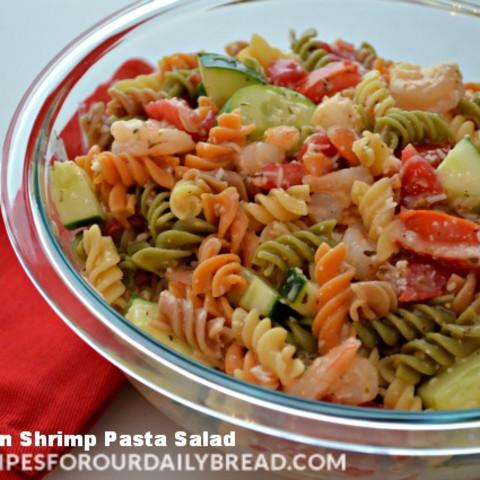 Easy Pasta Salad-Italian Shrimp