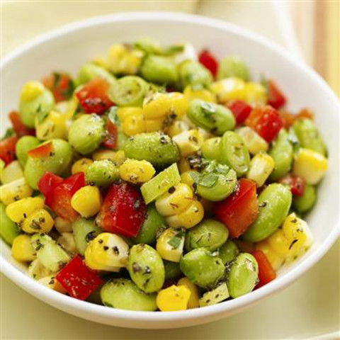 Cold Edamame and Corn Salad