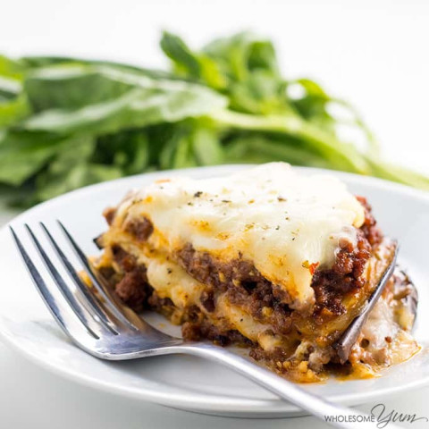 Ground Turkey Eggplant Lasagna | Keto and Gluten-Free