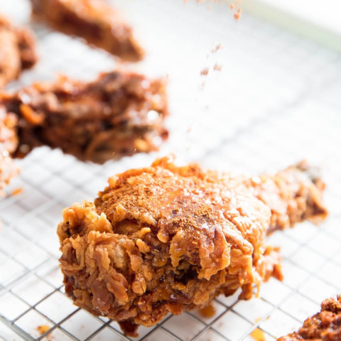 Extra-Crispy Fried Chicken With Caramelized Honey and Spice Recipe