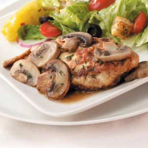 Reduced Fat Chicken Marsala