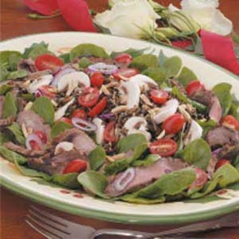 Flank Steak Spinach Salad Recipe