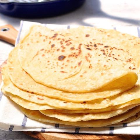 Flour tortilla shell