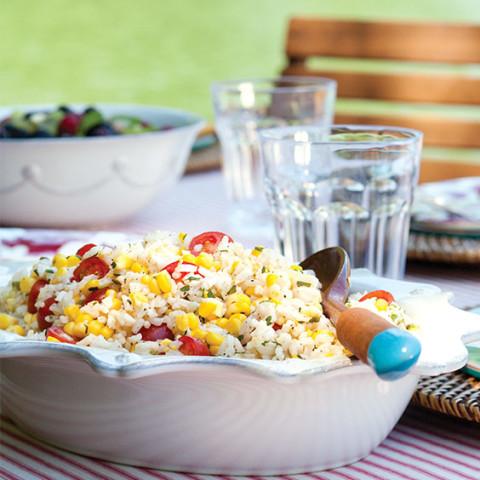 Fresh Corn and Rice Salad