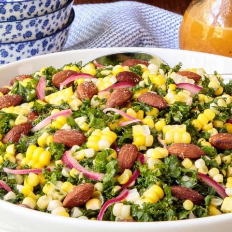 Fresh Corn Kale Salad