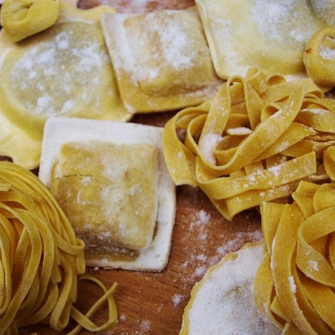 Fresh Pasta Dough Made With Blend Of Semolina All Purpose Flour