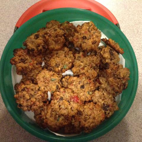 Vegan Fruitcake Cookies