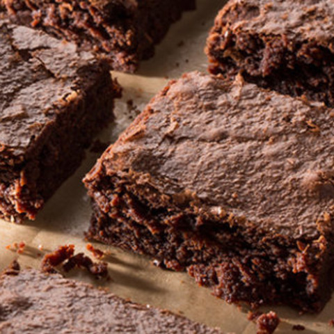 Fudgy Double-Chocolate Brownies