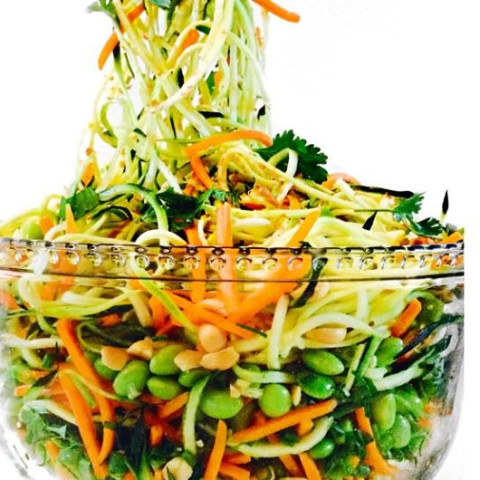 Fully Raw Asian Noodle Salad