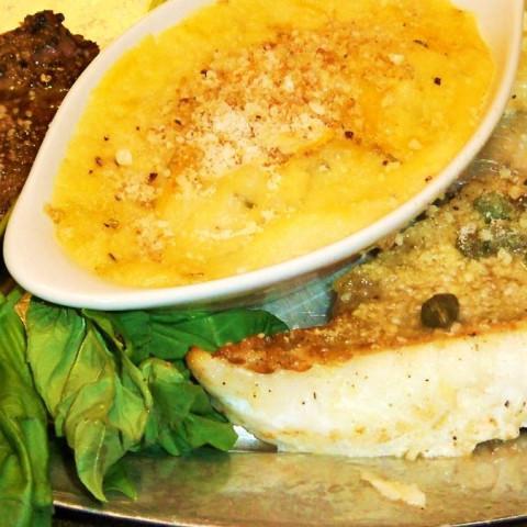 Garlic Butter Orange Roughy
