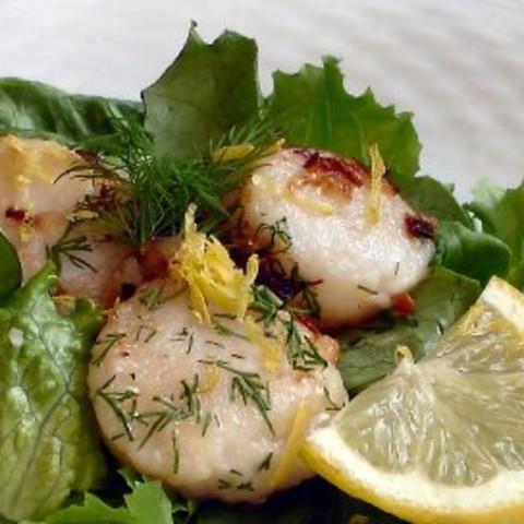 Garlicky Lemon Scallops