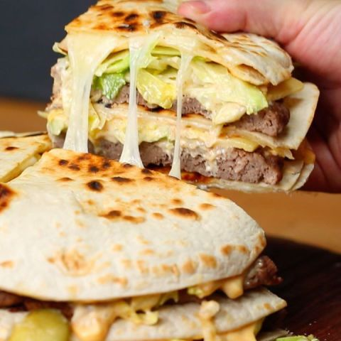 Giant Quesadilla Big Mac