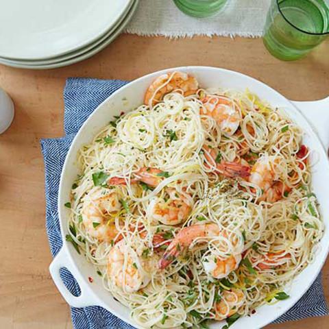 Gina's Shrimp Scampi with Angel Hair Pasta