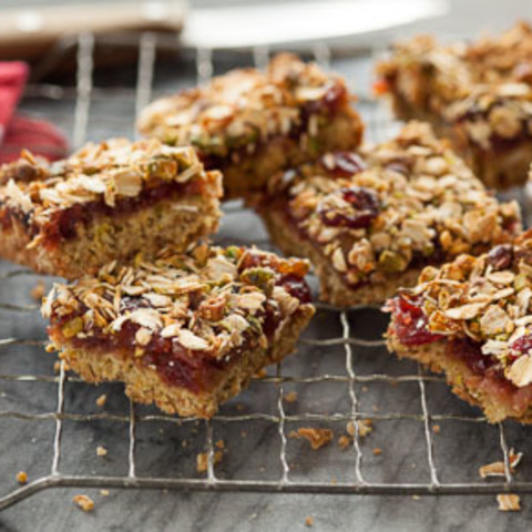 Gluten-Free Cranberry Maple Pear Bars