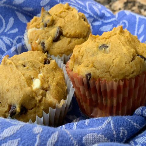 Gluten Free Double Chocolate Pumpkin Muffins