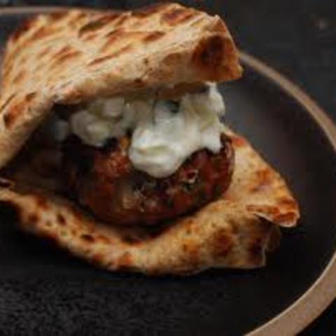 Greek Lamb Burgers with Yogurt Sauce