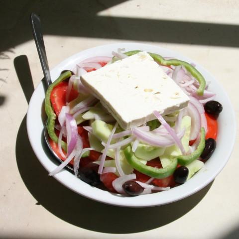 Greek Salad (choriatiki) -  A journey to the islands