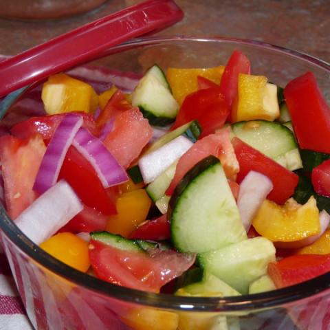 Greek Salad - Raw Food Diet