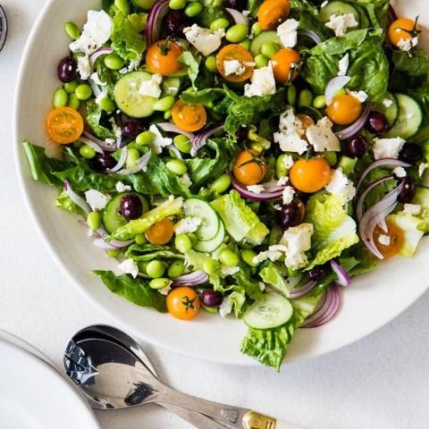 Greek Salad with Edamame