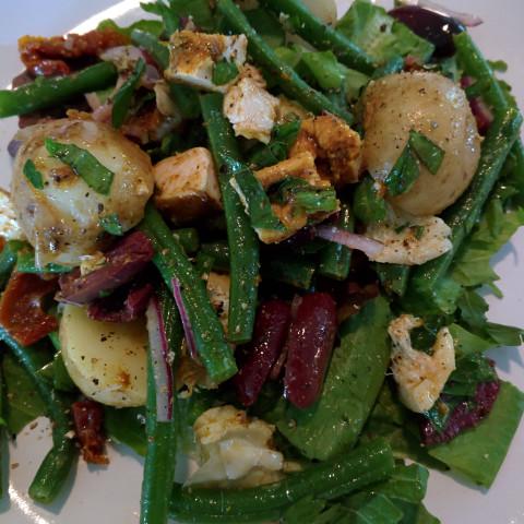 Green Bean, Potato and Chicken Salad
