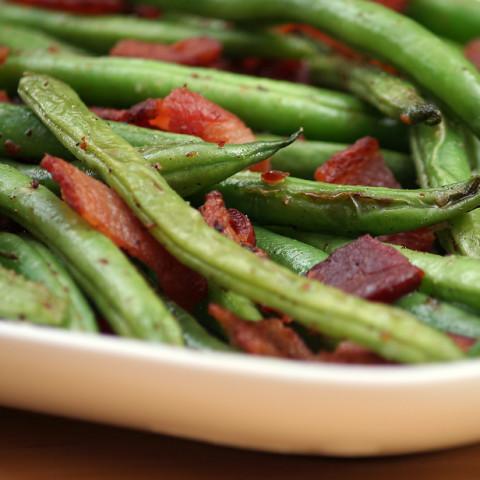 Green Beans with Bacon-Balsamic Vinaigrette