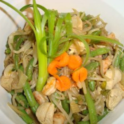 Green Beans with Bean Sprouts And Green Onions