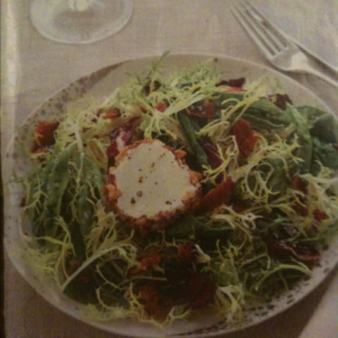 Greens with Goat Cheese and Bacon