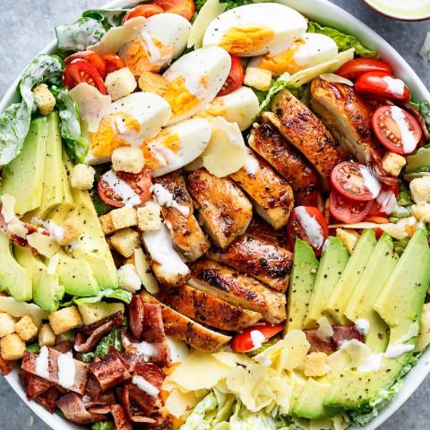 Grilled Chicken Caesar Cobb Salad