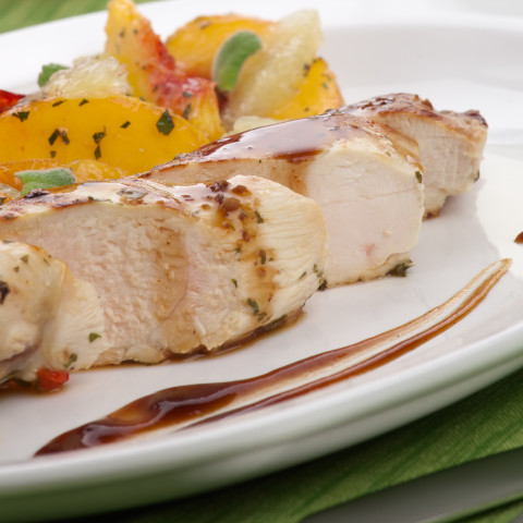 Grilled Chicken with Bourbon Peach Butter