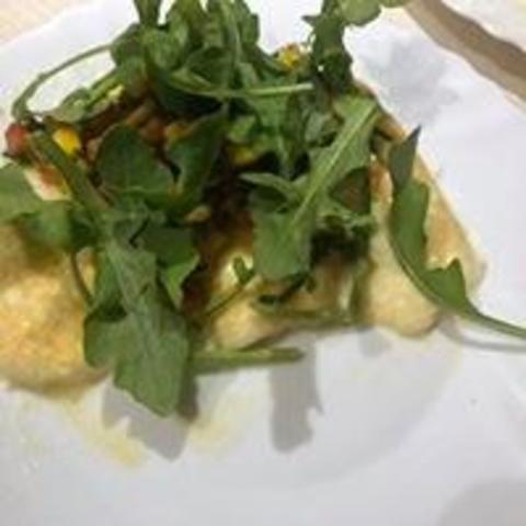 Grilled Halloum with Mango Virgin Sauce