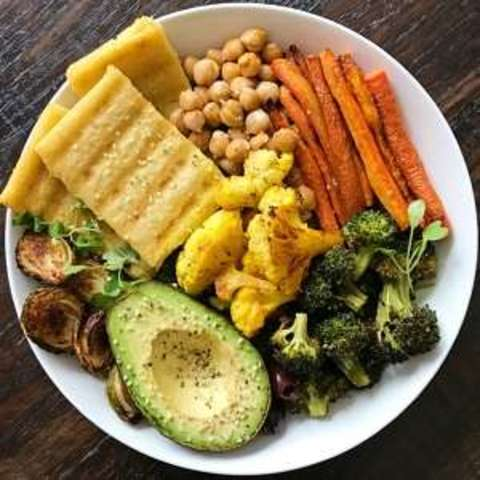 Grilled Polenta and Roasted Veggies