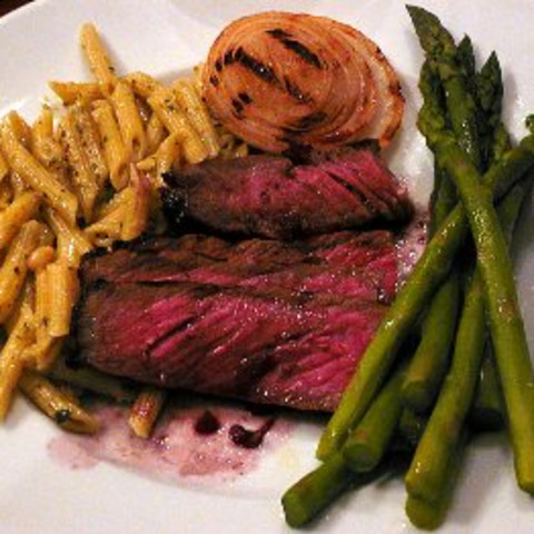 Grilled Ribeye Steak with Cabernet Sauvignon Sauce
