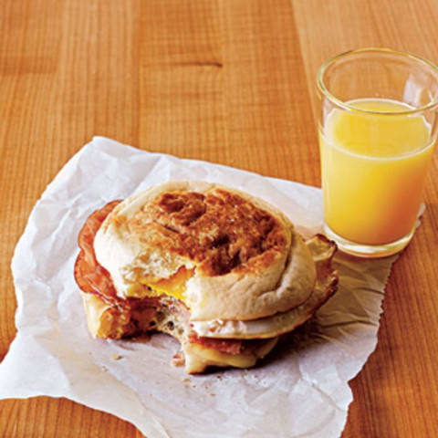 Ham and Swiss Egg Sandwiches