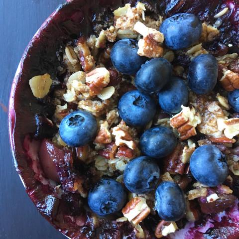 Healthier Blueberry and Nectarine Crisp