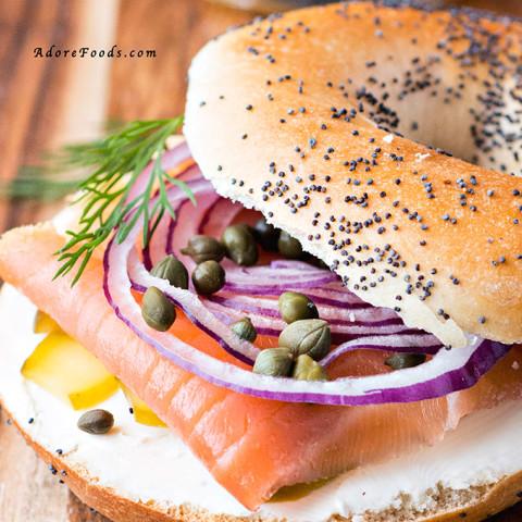 Healthy Smoked Salmon Bagel Breakfast