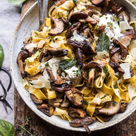 Herby Buttered Wild Mushroom Tailgate Pasta