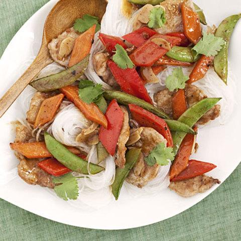 Hoisin Pork With Vegetables and Noodles