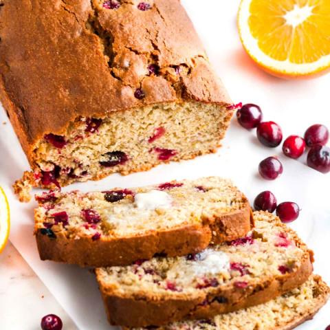 Holiday Orange Cranberry Bread