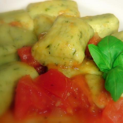 Homemade Basil Gnocchi