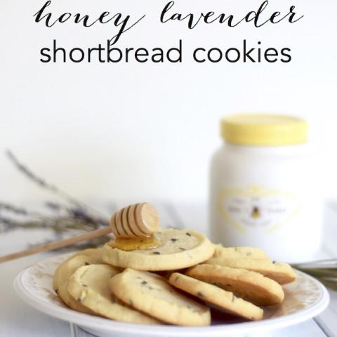 Honey Lavender Shortbread Cookies