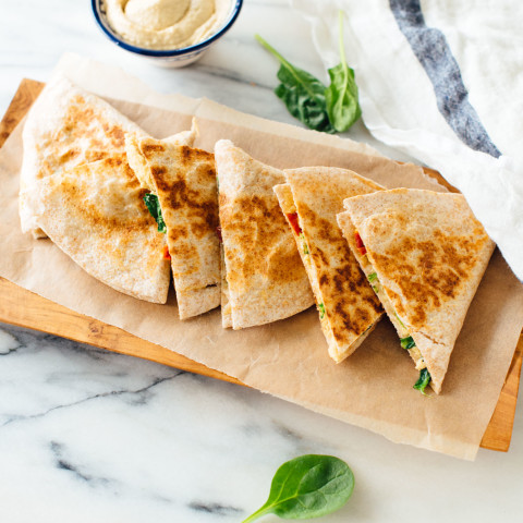 Hummus Quesadillas!