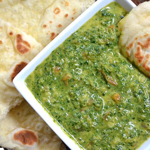 indian style creamed spinach