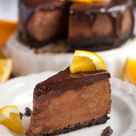 Instant Pot Chocolate Orange Cheesecake