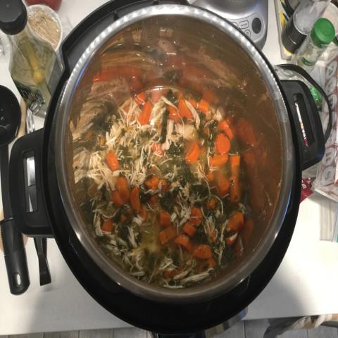 Instant Pot Healthy Chicken Vegetable Soup