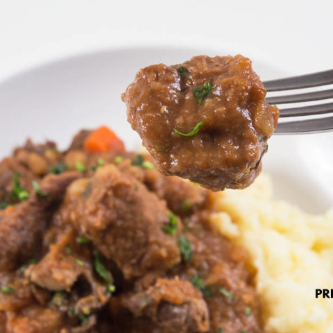 Instant Pot Irish Beef Stew and Mashed Potatoes (Pot-in-Pot)