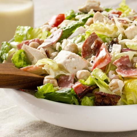 Italian Chopped Salad with Creamy Garlic Vinaigrette